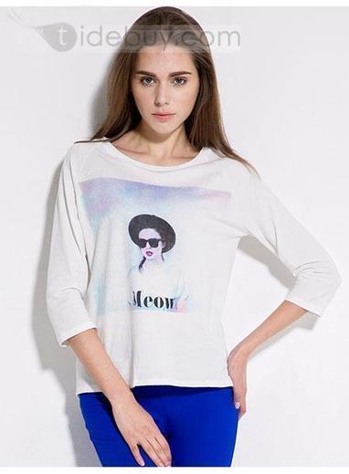 Boutique Round Neckline Slim Long Sleeves T-shirt   Bellafuny   Scoop.it