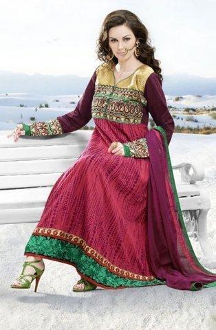 Amazing Maroon Bridal Churidar Kameez ORKJ1410 - $63.90 | Designer Salwar Kameez | Party Wear Salwar Kameez | Bollywood Churidar Salwar Kameez | Scoop.it