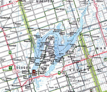 Fishing Map of Scugog Lake | Graphic Texts | Scoop.it