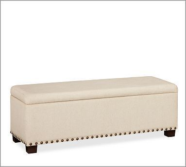 Raleigh Upholstered Storage Bench with Nailhead | Personal | Scoop.it
