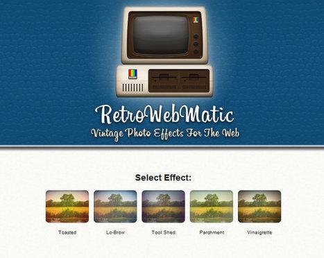 RetroWebMatic : un effet vintage à la Instagram pour les sites Web | Infographie+Web = Webdesign | Scoop.it