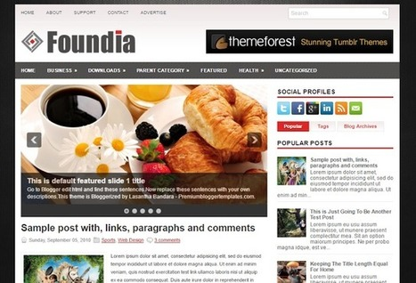 FOUNDIA | Blogger Themes | Blogger themes | Scoop.it