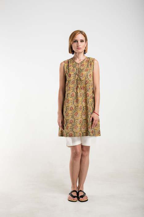 mustard kalamkari cotton top with side ties | 2014 Collection | Scoop.it
