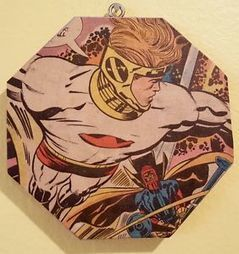 """Jack Kirby Comic Collage New Gods Decorative Comic Book Wall Art 5x5 inches 