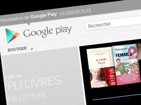 Google Play, la nouvelle librairie en ligne et en français - Rue89 | Un peu de tout... | Scoop.it