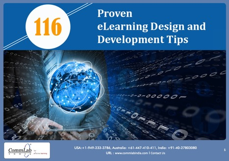 [PDF] Proven eLearning design and development tips | Education & ICT | Scoop.it