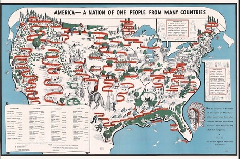 A Pretty 1940 Map of American Diversity, Annotated by Langston Hughes   Ms. Samples US History   Scoop.it