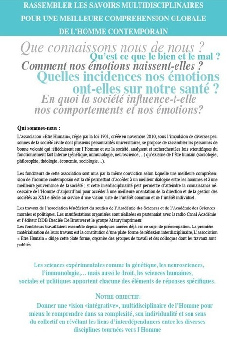 Association Etre humain | Etre Humain | Scoop.it