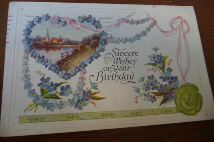 Sincere Wishes On Your Birthday: Antique Postcard | Antiques & Vintage Collectibles | Scoop.it