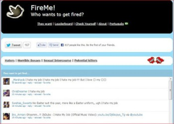 FireMe! is watching boss haters on Twitter | Business in a Social Media World | Scoop.it