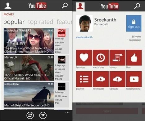 Youtube débarque enfin sur Windows Phone | Social and digital network | Scoop.it