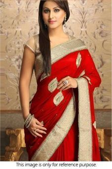 Kia Fashions Bollywood Replica Heena Khan Red Designer Saree of 5999 rs in 799 rs | Latest bollywood News & movies news,Upcoming Movies trailer Updates, movie show time | Scoop.it