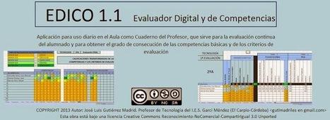 EDICO 1.1. Cuaderno para evaluar en competencias (José Luis Gutierrez) | RAQUEL | Scoop.it