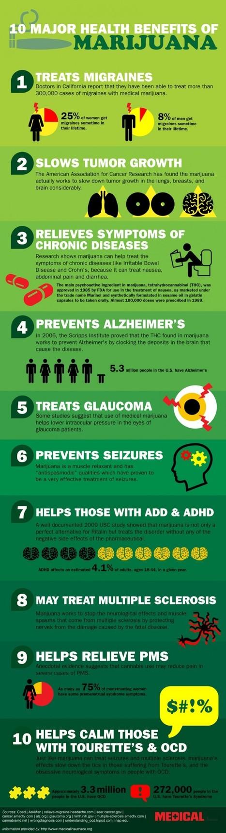 10 Major Health Benefits of Marijuana | Zazen Life | CognitiveScience | Scoop.it