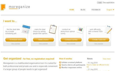 moreganize - stay organised | 1-MegaAulas - Ferramentas Educativas WEB 2.0 | Scoop.it