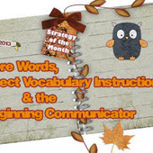 Core Words, Direct Vocabulary Instruction, & The Beginning Communicator | AAC and Literacy- Bridging the Gap | Scoop.it