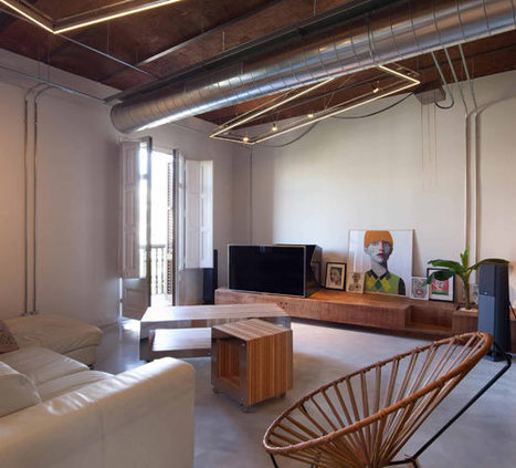 Barcelona Apartment Renovation by TC-Interiors - Industrial Vibe... Design Milk | Raw and Real Interior Design | Scoop.it