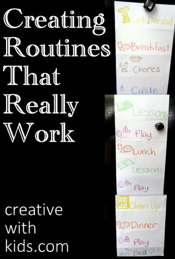 How to Make a Routine That Works - Habits of Happy Families Series   Gems for a Happy Family Life   Scoop.it