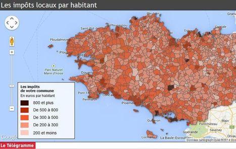 Municipales en chiffres:  Les impôts locaux ville par ville, la première dataviz du Télégramme | Les médias face à leur destin | Scoop.it