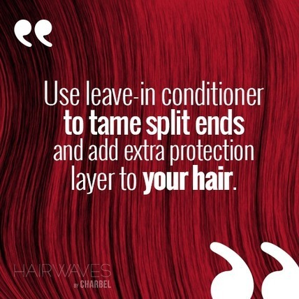 Use leave-in conditioner to tame split ends and add extra protection layer to your hair | Latest And Trendiest Hairstyling Techniques | Scoop.it