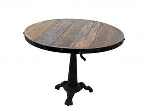 Rustic Industrial Style Cafe Crank Table | Mexican Wall Art and Furniture | Scoop.it