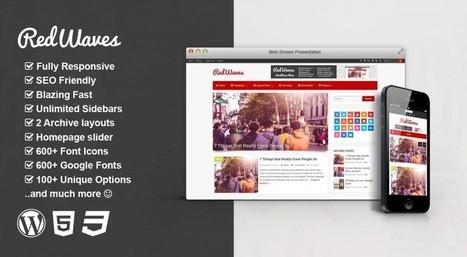 RedWaves - Modern & SEO Friendly WordPress Blog Theme | wp theme | Scoop.it
