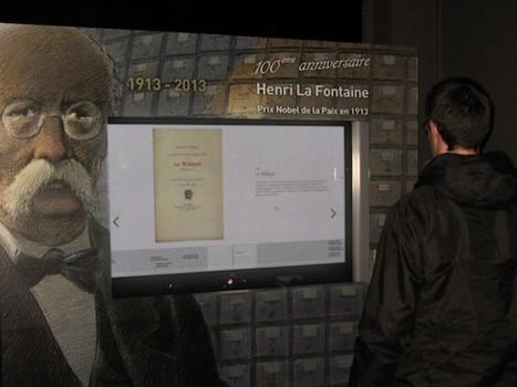 Henri La Fontaine interactive timeline installation @ mundaneum by numediart | ARTE, ARTISTAS E INNOVACIÓN TECNOLÓGICA | Scoop.it