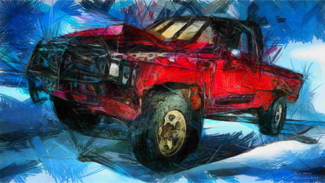 Automotive Artist Draws Funky Renditions Of Some Favorite Trucks | business and industry related market research | Scoop.it