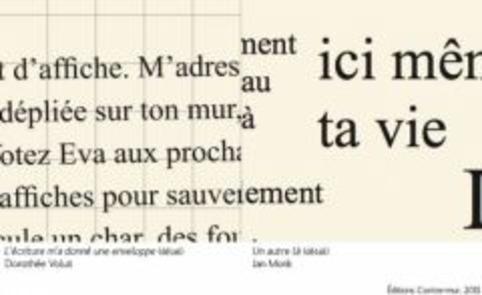 Soirée de lancement des posters de Dorothée Volut et Ian Monk - Contre-mur | Poezibao | Scoop.it