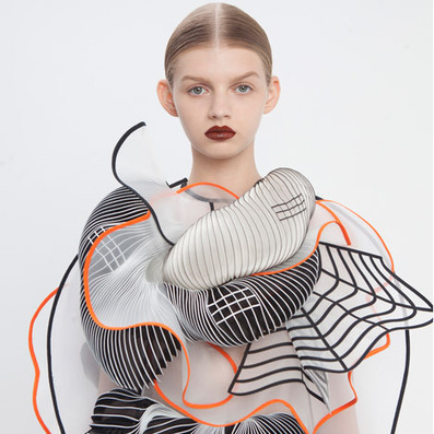 Noa Raviv uses grid patterns and 3D printing in fashion collection | Digital Design and Manufacturing | Scoop.it
