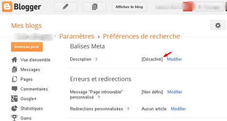 Comment utiliser les balises Meta Description dans blogger/blogspot | Freewares | Scoop.it