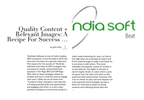 Quality content + relevant images: A Recipe for success in SEO | queensautoservices | Scoop.it