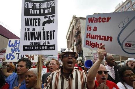 Water is a human right, but who is considered a human being? - Aljazeera.com   Human Geography   Scoop.it