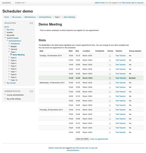 Moodle plugins: Scheduler   Climbing the Moodle ladder   Scoop.it