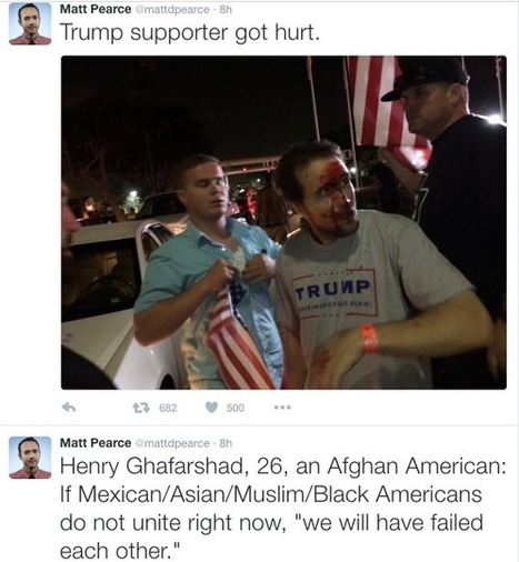 Trump supporters beaten, bloodied by 'Mexican-flag wavers' | Economic & Multicultural Terrorism | Scoop.it