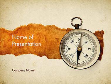 Compass on Parchment Presentation Template | Presentation Templates | Scoop.it