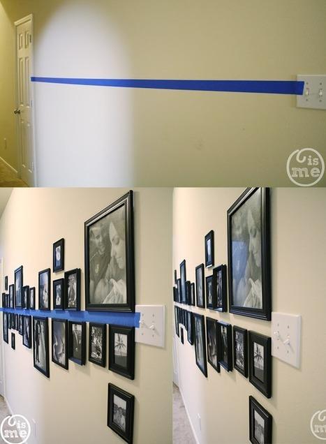 La Fabrique à Déco: Astuces pour bien accrocher vos tableaux et vos cadres au mur | Astuces pratiques Déco | Scoop.it