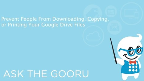 Google Drive Training Videos | Google Gooru | Into the Driver's Seat | Scoop.it