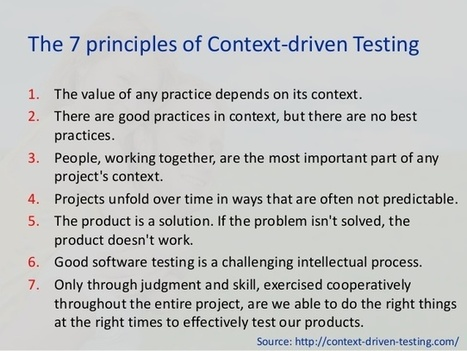 Being Context-Driven while Performing Software Testing - The Official 360logica Blog | Software Testing | Scoop.it