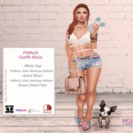 Alicia Outfit FitMesh and Shoes Group Gift by No Cabide | Teleport Hub - Second Life Freebies | Second Life Freebies | Scoop.it