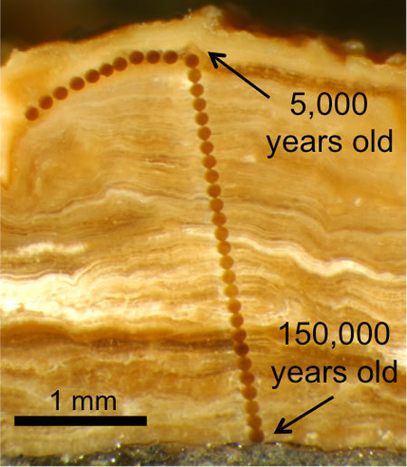 120,000 years of history in 3 millimeters of rock | Mineralogy, Geochemistry, Mineral Surfaces & Nanogeoscience | Scoop.it
