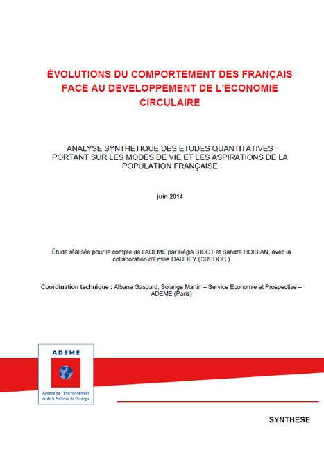 Évaluation du comportement des français face au développement de l'économie circulaire - ADEME | Gestion des services aux usagers | Scoop.it