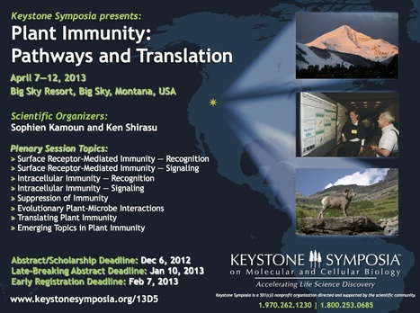 "Announcing Keystone Symposia's 2013 Conference on ""Plant Immunity: Pathways and Translation"" 
