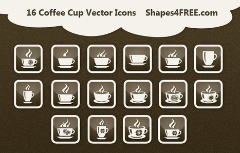 16 Free Coffee Cup Vector Icons | Vector Icons | Yellow Drawer | Scoop.it