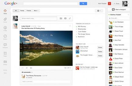 Un nouveau design pour Google + et  les 170 millions d'utilisateurs | Web et reseaux sociaux | Scoop.it