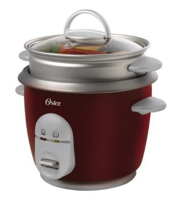Oster 4722 6-Cup (Cooked) Rice Cooker with Steaming Tray, Red | eletrovida | Scoop.it