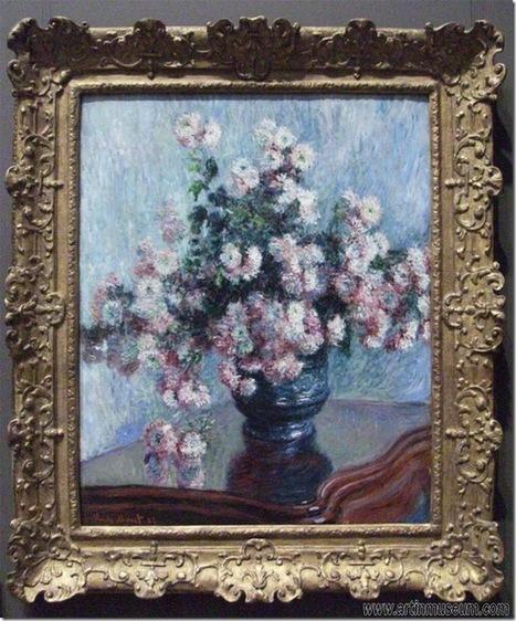 Chrysanthemums, Claude Monet | Art in Museum | Oil paintings | Scoop.it