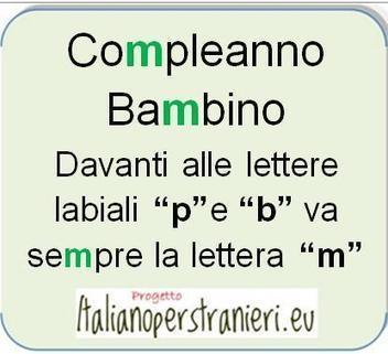 """Italiano per Stranieri » L'uso della """"m"""" prima delle lettere """"p"""" e """"b""""   Imparare l'italiano   Scoop.it"""