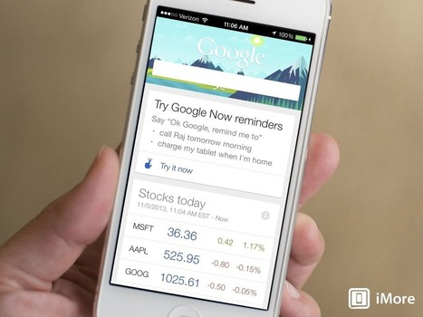 Google Search for iOS adds notifications, reminders, and more! - iMore | iPad:  mobile Living, Learning, Lurking, Working, Writing, Reading ... | Scoop.it