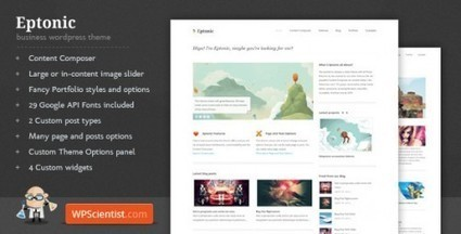 Clean Minimalistic Theme – Eptonic By WPScientist | Premium Wordpress Themes | Scoop.it